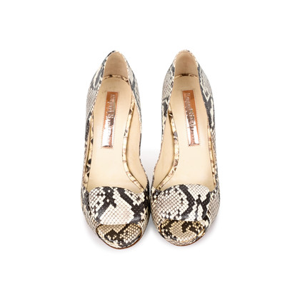 Authentic Second Hand Rupert Sanderson Python Peeptoe Pumps (PSS-214-00031)