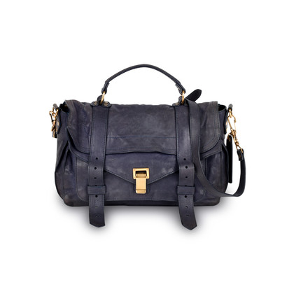 Proenza Schouler Shoulder Bag for Women On Sale, Midnight Blue, Leather, 2017, one size