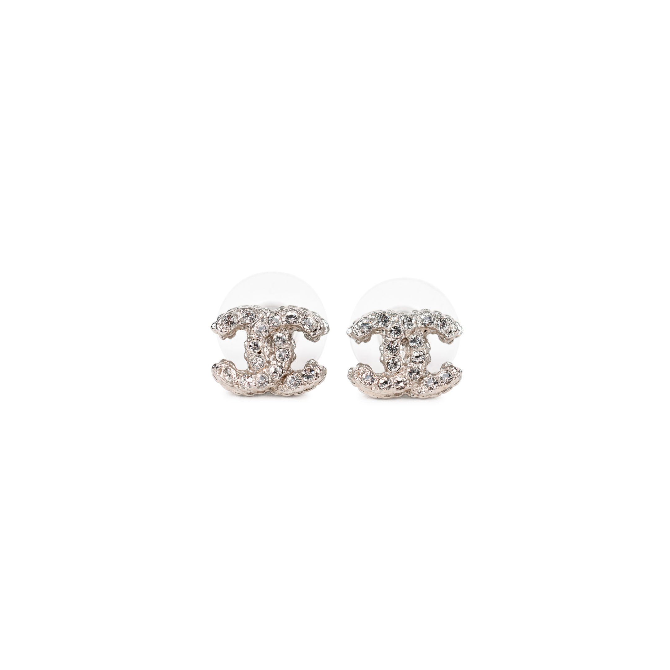Authentic Pre Owned Chanel Logo Stud Earrings Pss 214 00037 The Fifth Collection