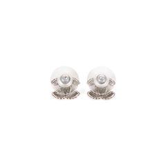 Chanel logo stud earrings 2?1520229341