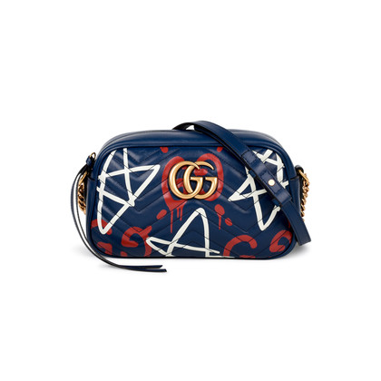Authentic Pre Owned Gucci GucciGhost GG Marmont Graffiti (PSS-143-00113)