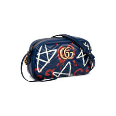 Gucci gucci ghost navy leather gg marmont graffiti 2?1520230326