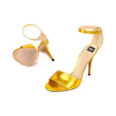 D g dolce gabbana gold metallic sandals 2?1520230470