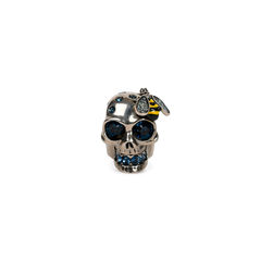 Crystal Bee and Skull Cocktail Ring