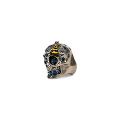 Alexander mcqueen crystal bee and skull cocktail ring 2?1520308127