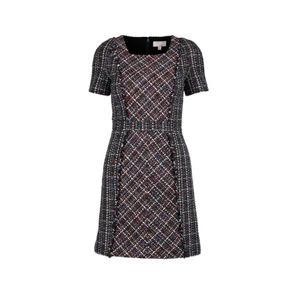 Authentic Second Hand Moiselle Checked Tweed Dress (PSS-387-00034)
