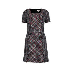 Checked Tweed Dress
