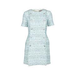 Button Detail Tweed Dress
