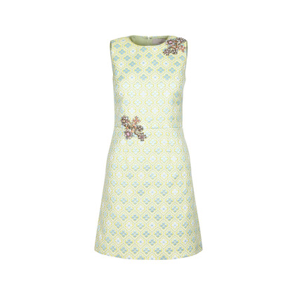 Authentic Second Hand Moiselle Embellished Jacquard Floral Dress (PSS-387-00038)