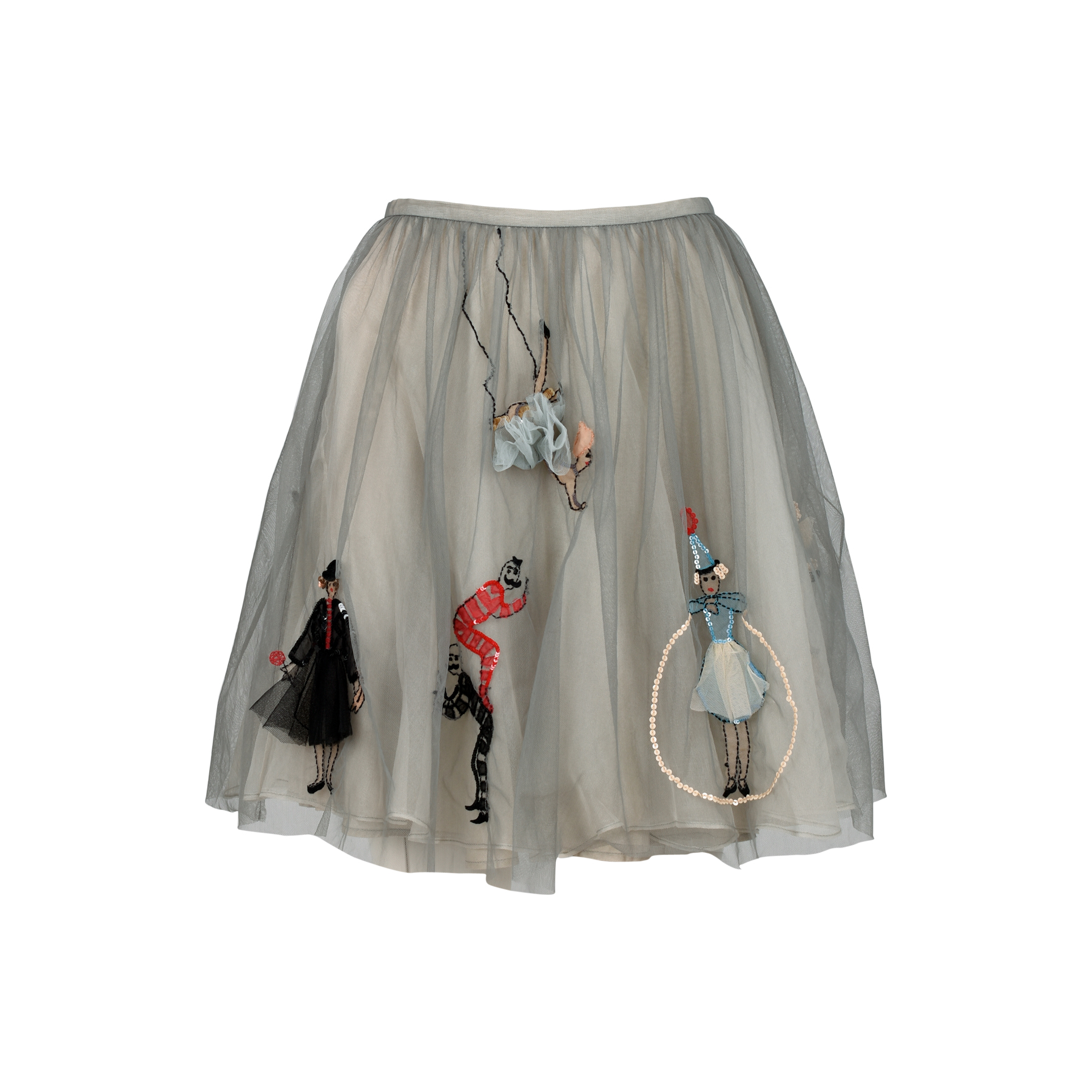 4284dae94e Authentic Second Hand RED Valentino Embroidered Tulle Skirt (PSS-387-00043)