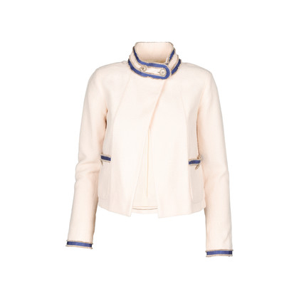Authentic Pre Owned Chanel Cream Boucle Jacket (PSS-143-00117)