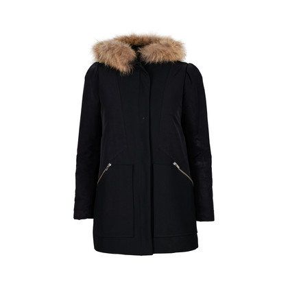 Authentic Second Hand Maje Faux Hur Hood Jacket (PSS-190-00050)