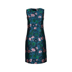 Sleevelsss Floral Jacquard Shift Dress
