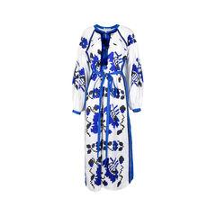 Tisa Embroidered Linen Dress