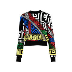 #Greek Print Sweater
