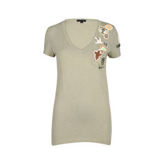 Patch V-Neck T-Shirt