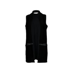 Knitted Suede Open Vest