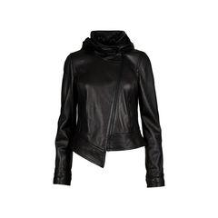 Hooded Leather BIker Jacket