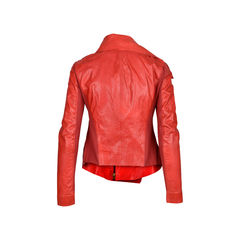 Donna karan double collar leather jacket 2?1520922960