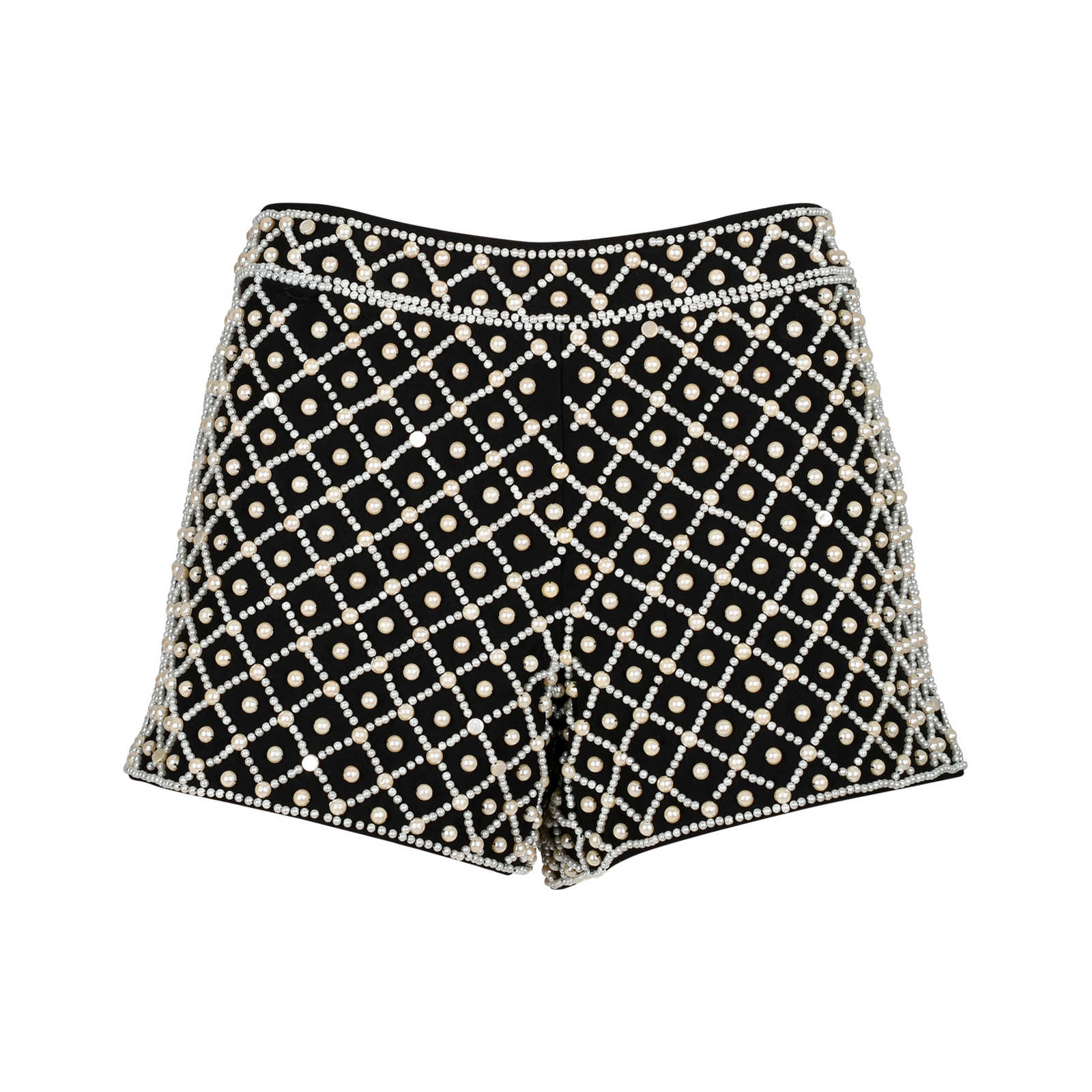 464fc64f0979 Authentic Second Hand Alice + Olivia Faux Pearl Embellished Shorts (PSS-200-01184  ...