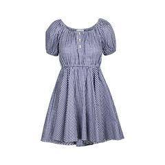 Blue Bardot Off Shoulder Dress