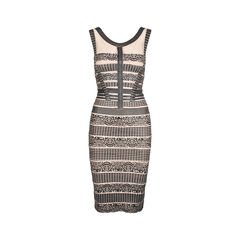 Lace Patterned Bandage Dress
