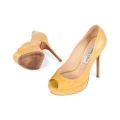 Jimmy choo patent leather peep toe pumps 2?1521175737