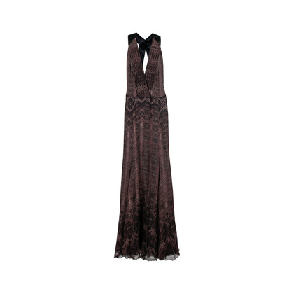 Authentic Second Hand Roberto Cavalli Reptile Print Gown (PSS-074-00105)