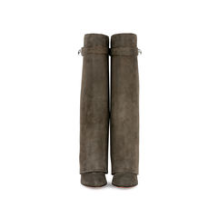 Shark Lock  Pant Suede Wedge Boots