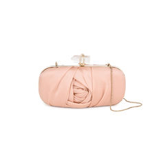 Silk Satin Organza Clutch