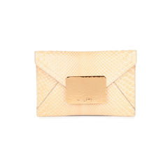 Snakeskin Envelope Clutch