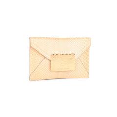 Halston nude snakeskin envelope clutch 2?1521438894