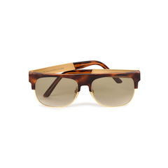 Andrea Havana Gold Fashion Sunglasses