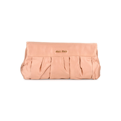 Authentic Second Hand Miu Miu Satin Evening Clutch (PSS-459-00003)