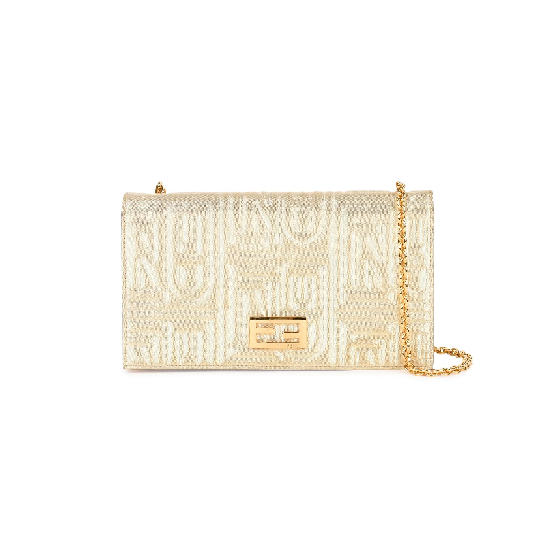 1036d2e6de74 Authentic Second Hand Fendi Embossed Wallet on Chain Bag (PSS-459-00004)