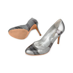 Sergio rossi python snake skin leather grey pumps 2?1521441308