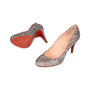 Authentic Second Hand Christian Louboutin Glitter Ron Ron 85 Pumps (PSS-459-00009) - Thumbnail 1