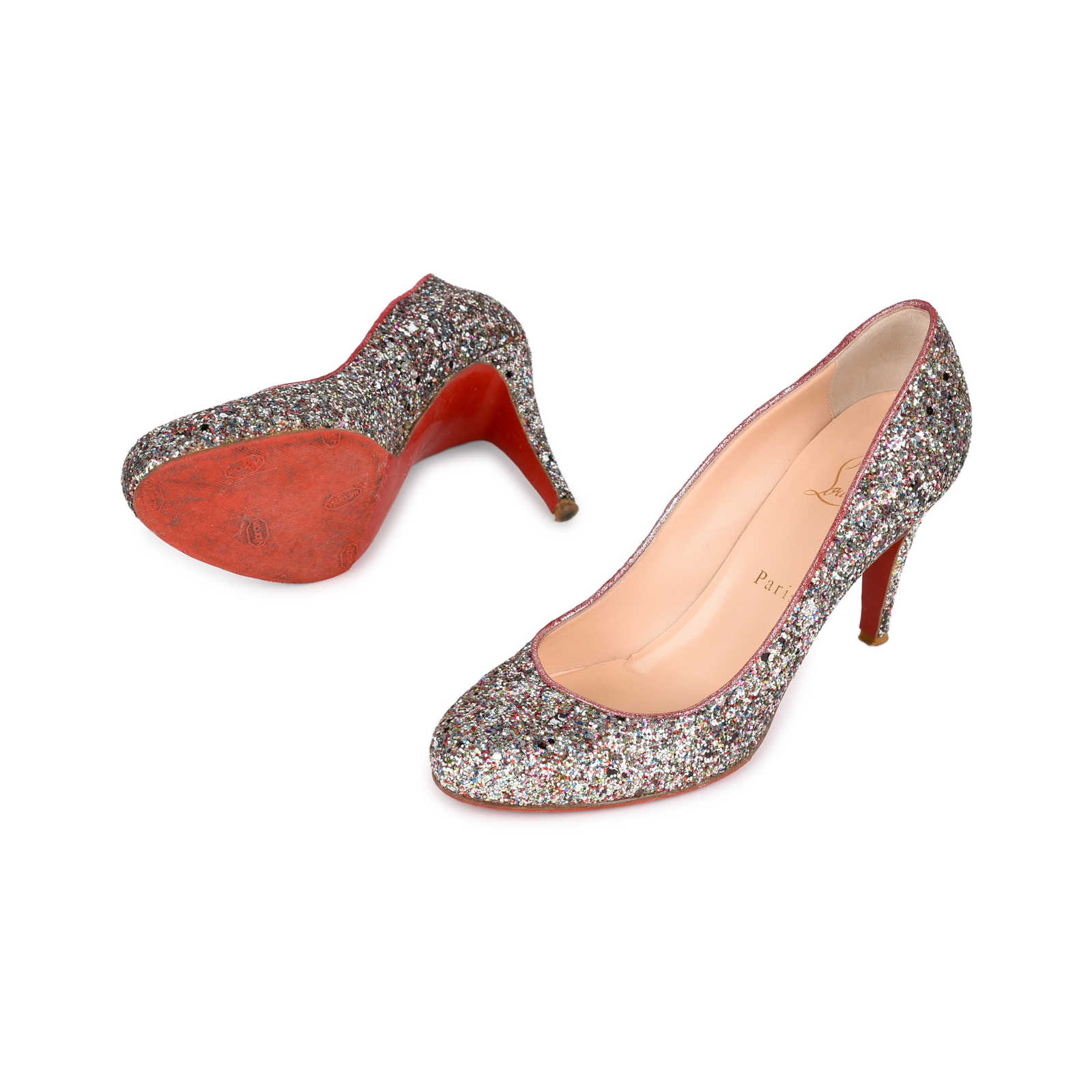 brand new 8efd4 44633 Authentic Second Hand Christian Louboutin Glitter Ron Ron 85 ...