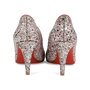 Authentic Second Hand Christian Louboutin Glitter Ron Ron 85 Pumps (PSS-459-00009) - Thumbnail 4