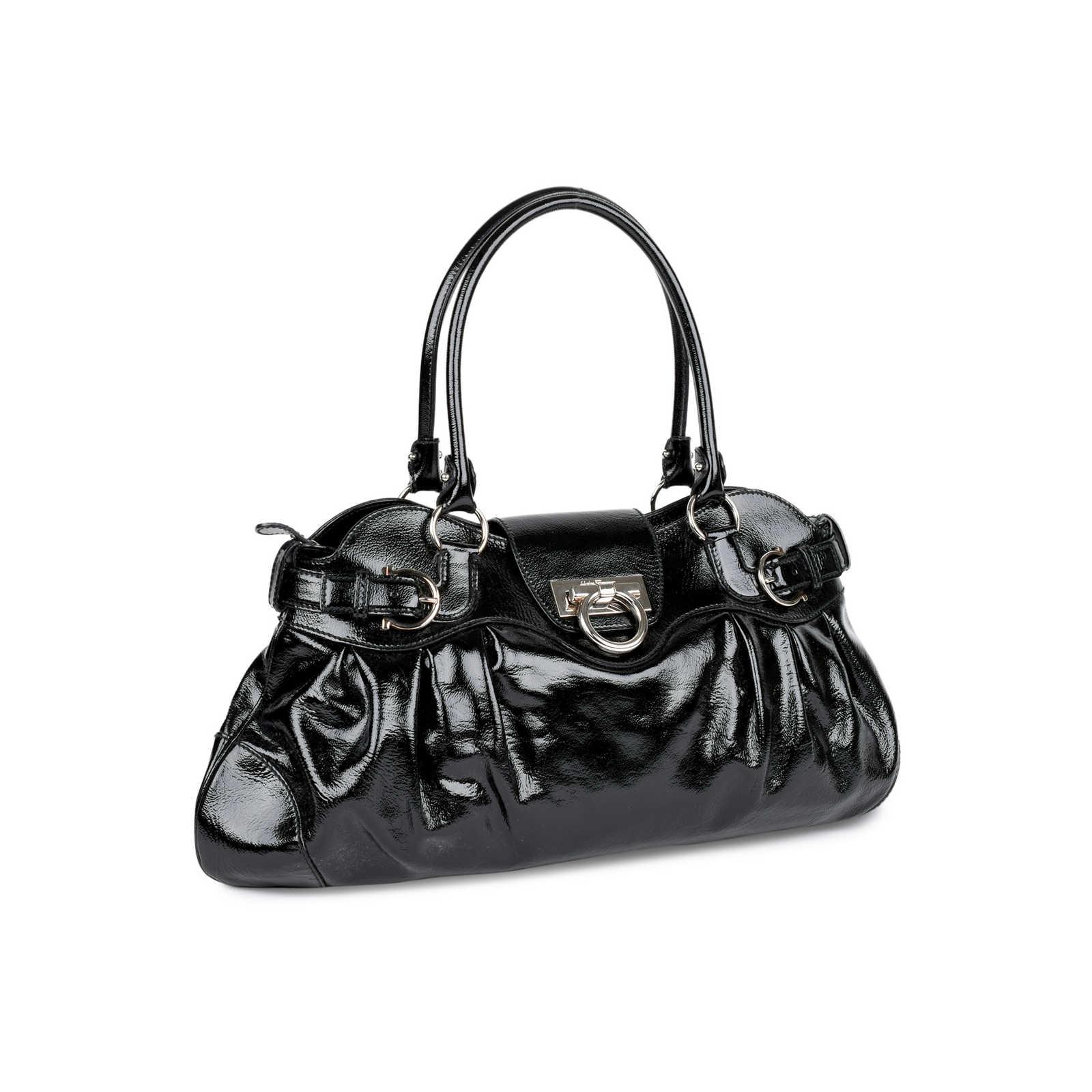 1c909de856e5 ... Authentic Second Hand Salvatore Ferragamo Marisa Shoulder Bag  (PSS-460-00009) ...