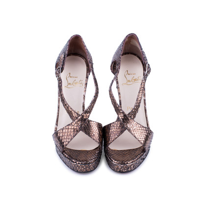 Christian Louboutin Python Crossover Sandals Cheap Footaction gzKEe7o3W7