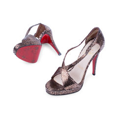 Christian louboutin crocodile skin cross over sandals 2?1521610103