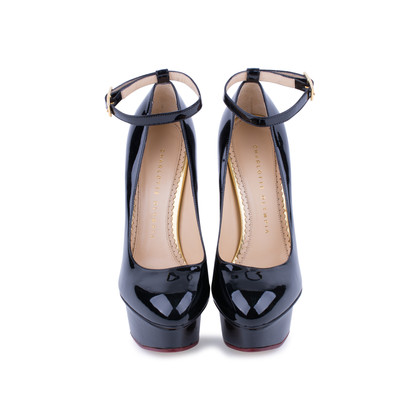 Authentic Second Hand Charlotte Olympia Patent Dolly Pumps (PSS-080-00230)