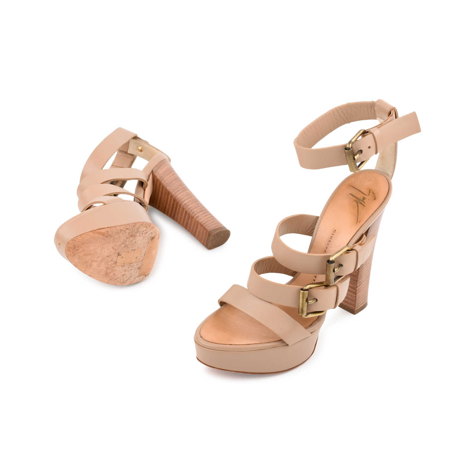 7450cf4073f2 ... Authentic Second Hand Giuseppe Zanotti Strappy Buckle Sandals (PSS-080-00214)  ...