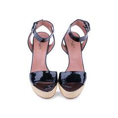 Patent Platform Sandals