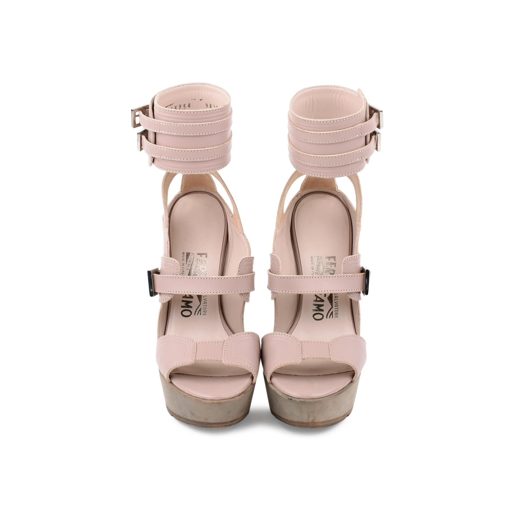 e4071c637d3 Authentic Second Hand Salvatore Ferragamo Braided Platform Sandal (PSS-080- 00221)