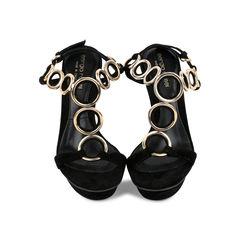 T-strap Metal Loops Sandals