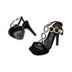 Sergio rossi t strap metal loops sandals 2?1521610441