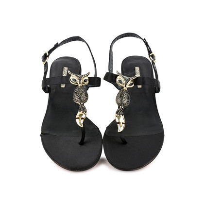 Authentic Second Hand Luciano Barachini Jewelled Fox Sandals (PSS-200-01267)