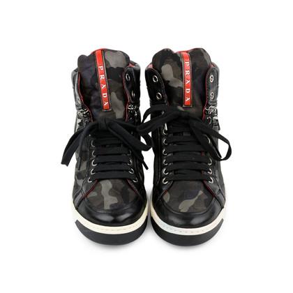 Authentic Second Hand Prada Camo Zip-Side Sneaker (PSS-200-01269)